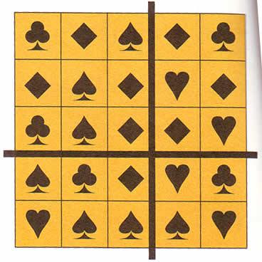 梅花4 方块1 黑桃3 红桃7 -符号算式方格 IQ超人