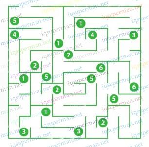 数字和迷宫之路