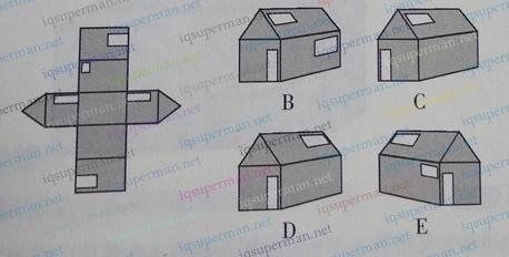 空间感练习之纸房子的展开图