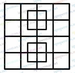 多少个正方形?