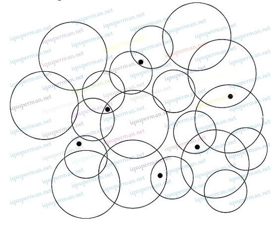 包含黑点的圆圈