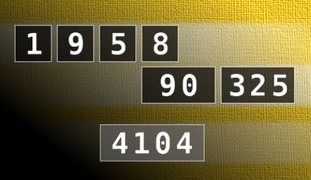 用加减乘除算出答案