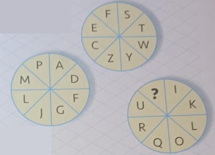 圆盘中的字母
