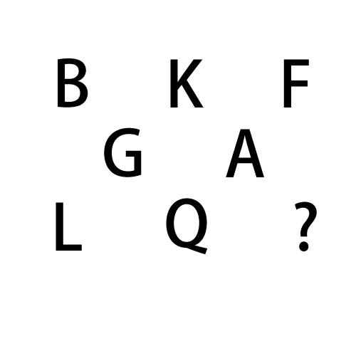 找规律填字母